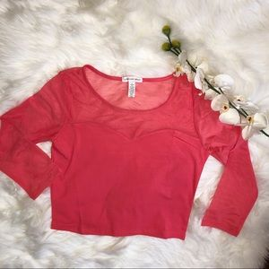 Forever 21 Ambiance Illusion Crop Top || L || A52